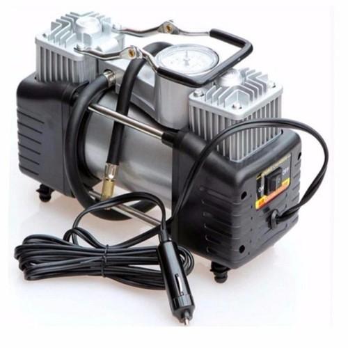 Bơm lốp ô tô mini 12v loại 2 xilanh công suất 280w bơm cực khỏe