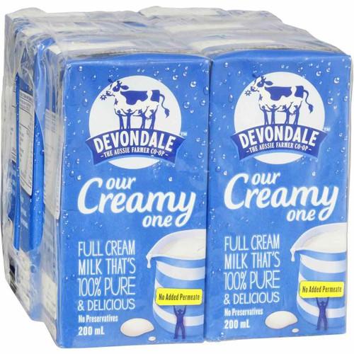 sữa tươi devondale Úc thùng 24 hộp 200ml date 31-10-19