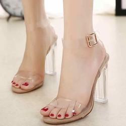giày sandal cao gót mica