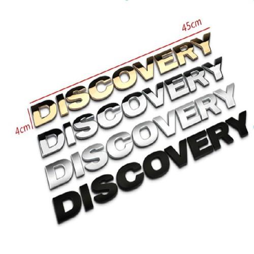 Decal Tem Chữ DISCOVERY 3D INOX Cao Cấp Dán Trang Trí Ô Tô G100803 - 11258894 , 16134077 , 15_16134077 , 390000 , Decal-Tem-Chu-DISCOVERY-3D-INOX-Cao-Cap-Dan-Trang-Tri-O-To-G100803-15_16134077 , sendo.vn , Decal Tem Chữ DISCOVERY 3D INOX Cao Cấp Dán Trang Trí Ô Tô G100803