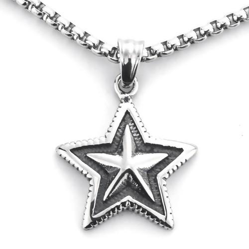 Dây chuyền ngôi sao PHONG CÁCH GOTHIC nam tính - sang trọng
