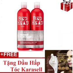 Cặp Dầu Gội & Xả Bed Head TIGI - Tặng Kèm Dầu Hấp Tóc Karsell