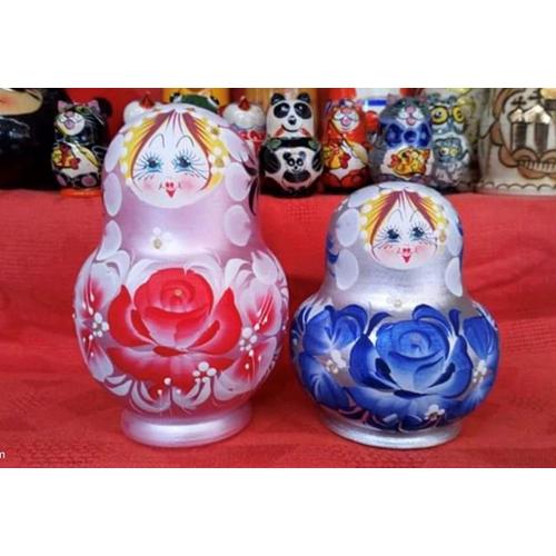 Bộ 5 Búp bê Matryoshka 2 chị em Ngày và Đêm