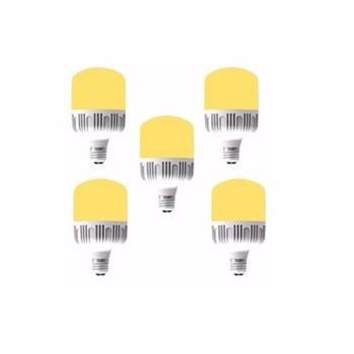 Bộ 5 bóng đèn led 20w bulb trụ ánh sáng vàng