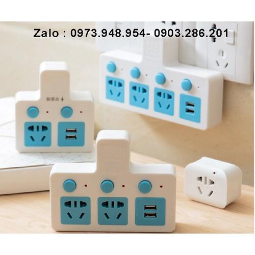 Ổ cắm điện - chia ổ điện thông minh - 3 ổ điện, 2 USB - 11265562 , 16150282 , 15_16150282 , 410000 , O-cam-dien-chia-o-dien-thong-minh-3-o-dien-2-USB-15_16150282 , sendo.vn , Ổ cắm điện - chia ổ điện thông minh - 3 ổ điện, 2 USB