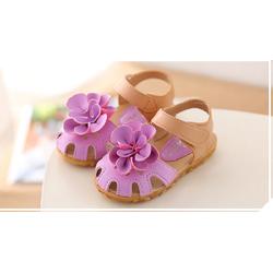 Giày dép cho bé kiểu dáng dép sandal cho bé quai dán tiện lợi , dép quai hậu đính trùm hoa to cho bé từ 1-5 tuổi