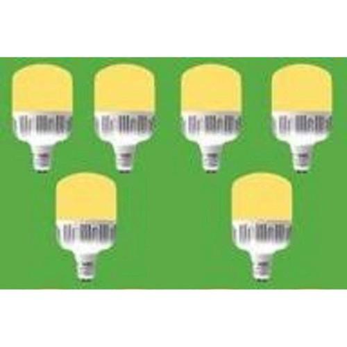 Bộ 6 bóng đèn led 10w bulb trụ ánh sáng vàng
