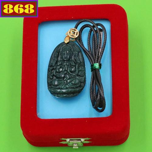 Vòng đeo cổ Đức Phật Ngàn Mắt, Ngàn Tay cẩm thạch 3.6 cm DEBCX8 kèm hộp nhung