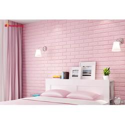Xốp dán tường giả gạch màu hồng hàng loại 1 - 0945304166
