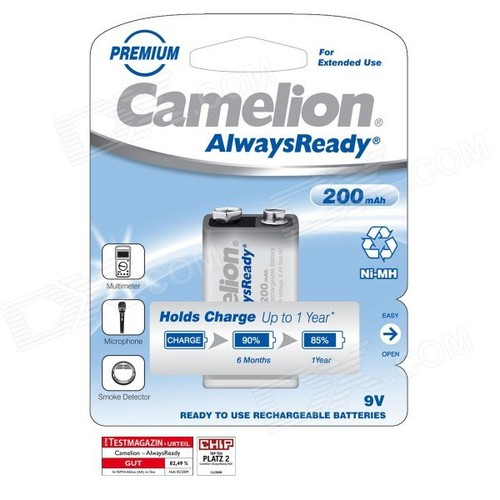Pin sạc vuông Camelion Rechargeable 9V - 10581609 , 16145215 , 15_16145215 , 95000 , Pin-sac-vuong-Camelion-Rechargeable-9V-15_16145215 , sendo.vn , Pin sạc vuông Camelion Rechargeable 9V