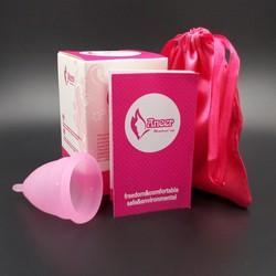 Cốc nguyệt san silicon y tế Aneer dùng thay thế băng vệ sinh, màu hồng