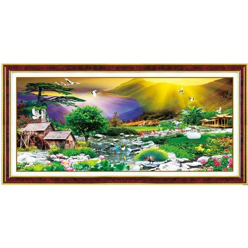 Tranh đính đá phong cảnh đồng quê - 11265342 , 16149933 , 15_16149933 , 345000 , Tranh-dinh-da-phong-canh-dong-que-15_16149933 , sendo.vn , Tranh đính đá phong cảnh đồng quê