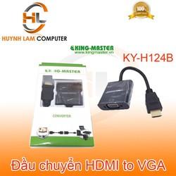 Cáp chuyển đổi HDMI sang VGA KingMaster KY-H124B chuẩn 1.4 HD tương thích màn hình LCD máy chiếu