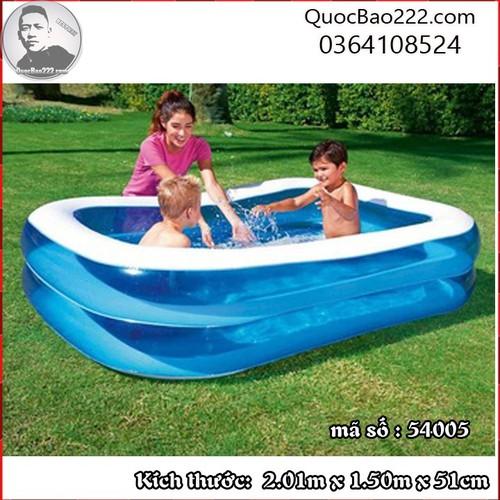 Bể Bơi Phao Chữ Nhật 2.01m x 1.50m x 51cm - Bestway 54005