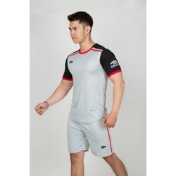 Đồ bộ quần áo thể thao, quần áo bóng đá Riki - Thun dày đẹp R302-Xám