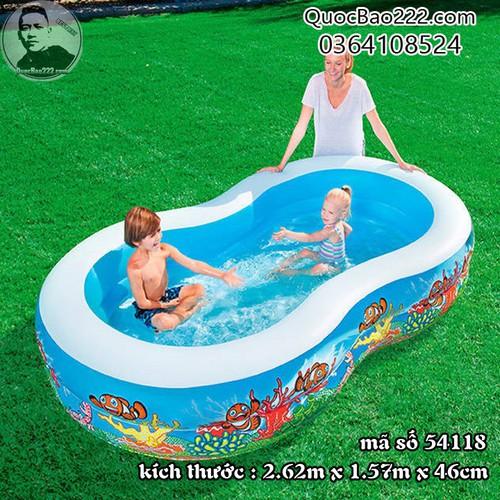 Bể Bơi Phao Số 8 Kích Thước 2.62m x 1.57m x 46cm - Bestway 54118