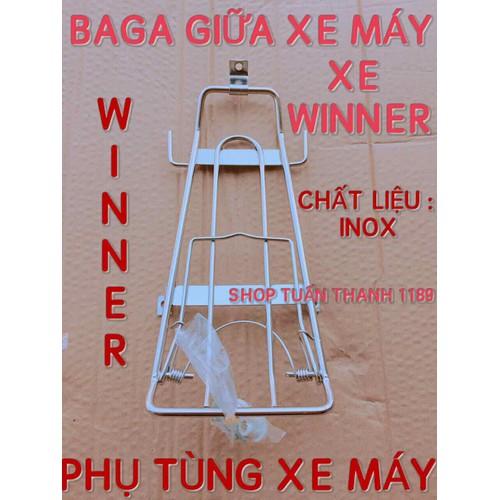 BAGA GIỮA XE WINNER INOX