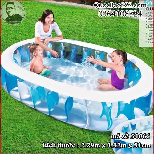 Bể Bơi Phao Họa Tiết Trong Suốt 2.29m x 1.52m x 51cm - Bestway 54066