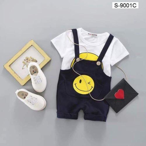 Bộ quần áo yếm chất cotton cho bé từ 5 đến 19kg - mẫu số 7