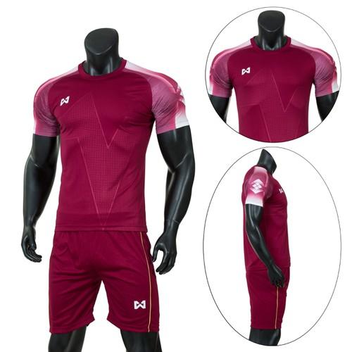 Đồ bộ quần áo thể thao, quần áo bóng đá Warrix  - Thun dày đẹp Warrix - Đỏ Đô