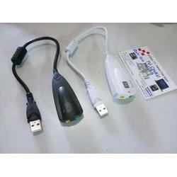 Usb âm thanh: USB Sound 7.1 - 5HV2, có đoan dây chống nhiễu - Tự nhận driver.