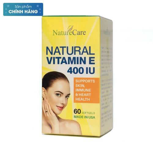 Viên uống đẹp da - Natural Vitamin E 400Iu Naturecare 60V