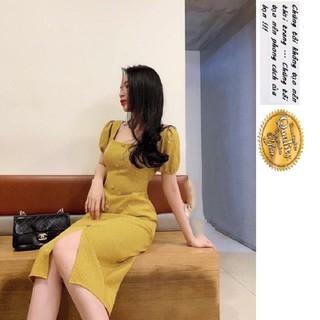 ĐẦM CAO CẤP CỔ VUÔNG CARO - V175V thumbnail