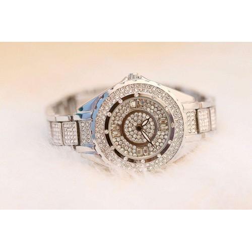 Đồng hồ nữ BEE SISTER thời trang 2 kim đính đá BS7-8 tặng kèm dụng cụ cắt dây và pin