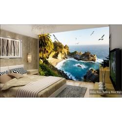 Thiết kế thi công tranh dán tường 3d theo yêu cầu với mọi kích thước gia rẻ