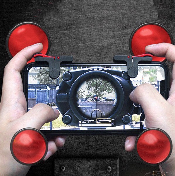 Bộ 2 Nút Bấm Chơi Game Mobile PUBG, ROS Dòng D9 Trên Điện Thoại 1