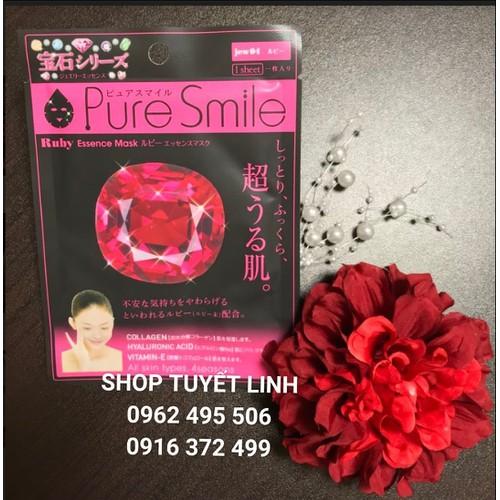 MẶT NẠ DƯỠNG TRẮNG PURE SMILE TINH CHẤT RUBY - 70K - 1 CÁI - NỘI ĐỊA NHẬT BẢN