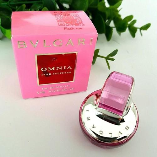Hàng Chính Hãng - Nước Hoa Mini Nữ BVLGARI Omnia Pink Sapphire EDT 5ml