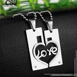 DÂY CHUYỀN CẶP ĐÔI MẢNH GHÉP CHỮ LOVE