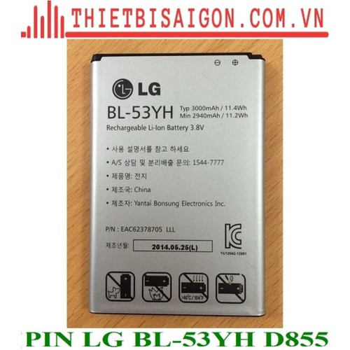 PIN LG BL-53YH D855 - 11281112 , 16191770 , 15_16191770 , 85000 , PIN-LG-BL-53YH-D855-15_16191770 , sendo.vn , PIN LG BL-53YH D855