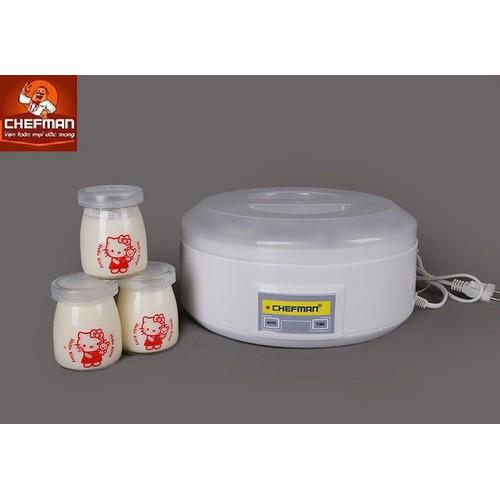 Máy làm sữa chua Chefman 8 cốc thủy tinh CM-302T