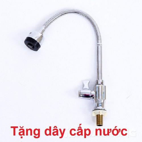 Vòi Rửa Bát ,Vòi Rửa Chén Selta Dây Mềm Inox Cắm Chậu Cao Cấp 1 đường nước lạnh+ Tặng dây cấp nước