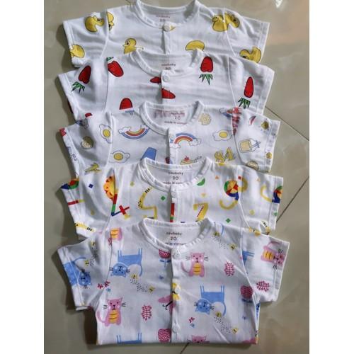 set 5 bộ cotton giấy kèm quần có tặng kèm vòng dâu tằm