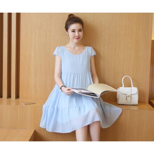 Váy bầu xanh nhạt