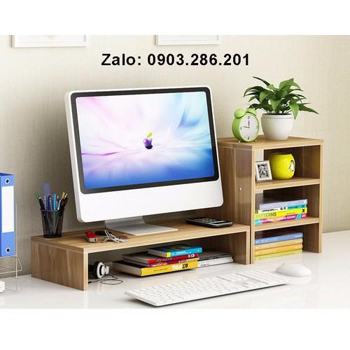 Kệ gỗ để màn hình máy tính - Giá kệ để máy tính có ngăn tủ bên cạnh - 11281003 , 16191607 , 15_16191607 , 680000 , Ke-go-de-man-hinh-may-tinh-Gia-ke-de-may-tinh-co-ngan-tu-ben-canh-15_16191607 , sendo.vn , Kệ gỗ để màn hình máy tính - Giá kệ để máy tính có ngăn tủ bên cạnh
