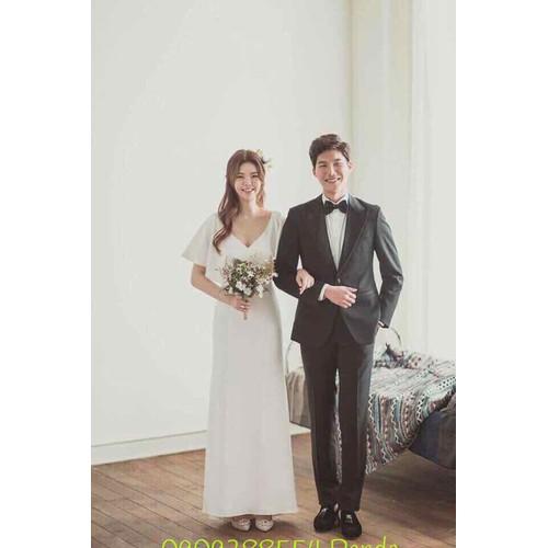 áo cưới trắng tung suôn thun