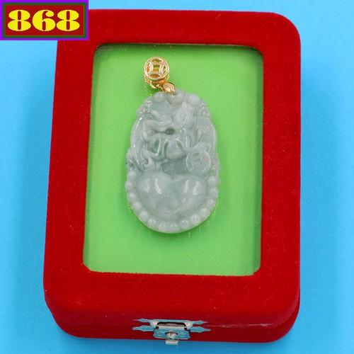 Mặt dây chuyền - khắc hình tuổi Mão - đá cẩm thạch MCGCTX11 - kèm hộp nhung - linh vật tuổi Mão