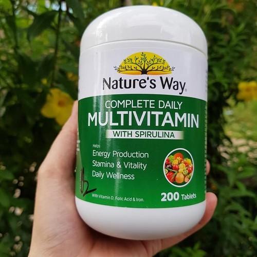 Viên uống Vitamin tổng hợp và tảo xoắn Nature