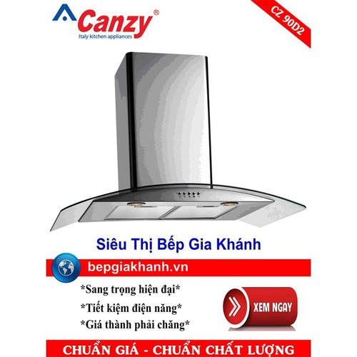 Máy hút mùi nhà bếp dạng kính cong 90cm Canzy CZ 90D2