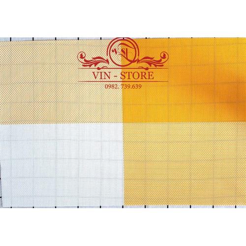 30x45cm - KL014 Combo 2 tấm lót bàn ăn nhựa dẻo màu vàng cam