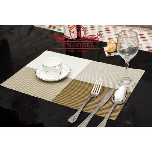 30x45cm - KL012 Combo 2 tấm lót bàn ăn nhựa dẻo màu vàng đậm