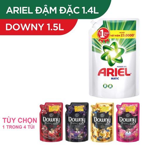 Combo Nước giặt Ariel Matic đậm đặc 1.4kg và Nước xả vải Downy 1.5L - 11204763 , 16185181 , 15_16185181 , 199000 , Combo-Nuoc-giat-Ariel-Matic-dam-dac-1.4kg-va-Nuoc-xa-vai-Downy-1.5L-15_16185181 , sendo.vn , Combo Nước giặt Ariel Matic đậm đặc 1.4kg và Nước xả vải Downy 1.5L