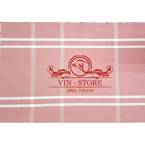 30x45cm - KL010 Combo 2 tấm lót bàn ăn nhựa dẻo màu hồng