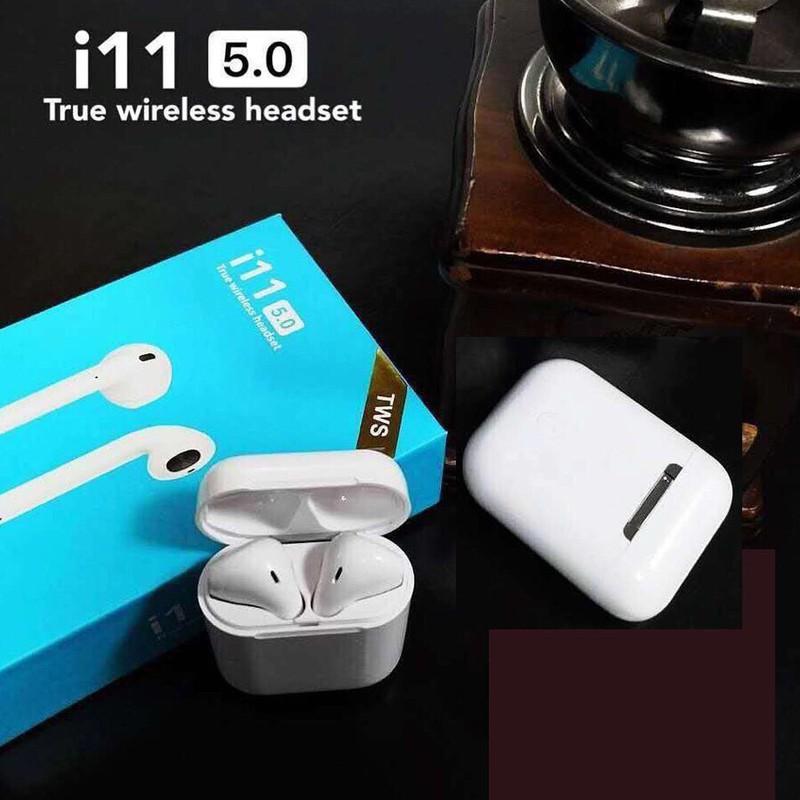 Tai Nghe Bluetooth I11 Tws Bluetooth 5.0 Stereo Super Bass Tặng Móc Khóa Game - tai nghe i11 cao cấp 8