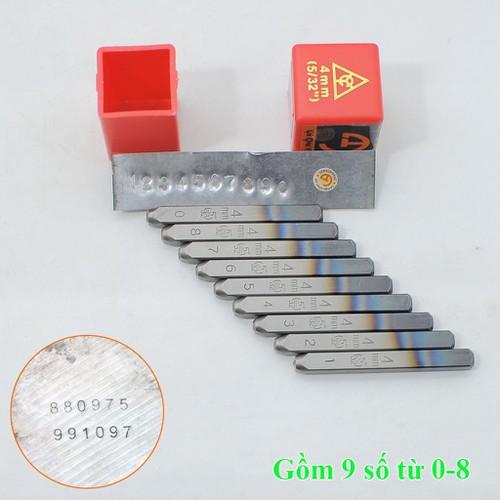 Dụng cụ đóng số 4mm-XUÔI
