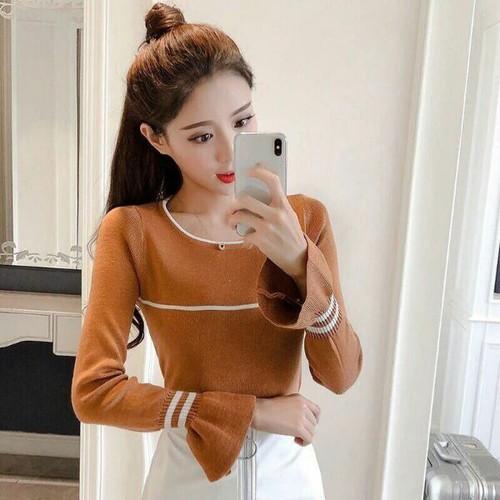 Áo len nữ tay dài